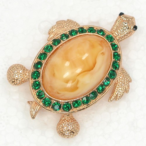 Rhinestone Turtles Pin broşlar C781 M2