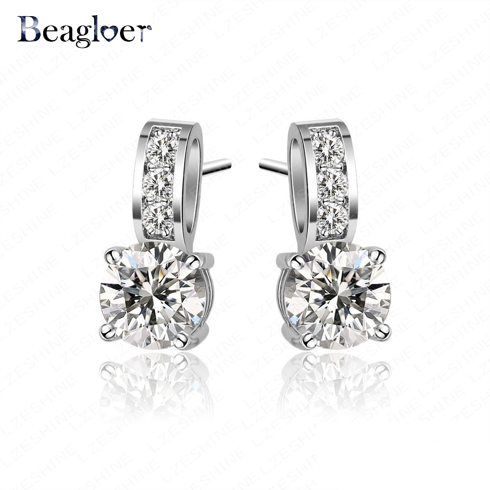 Beagloer Brand High Quality Small Size Earrings Classic Engagement Earings Cubic Zirconia Drop Earrings CER0036-B