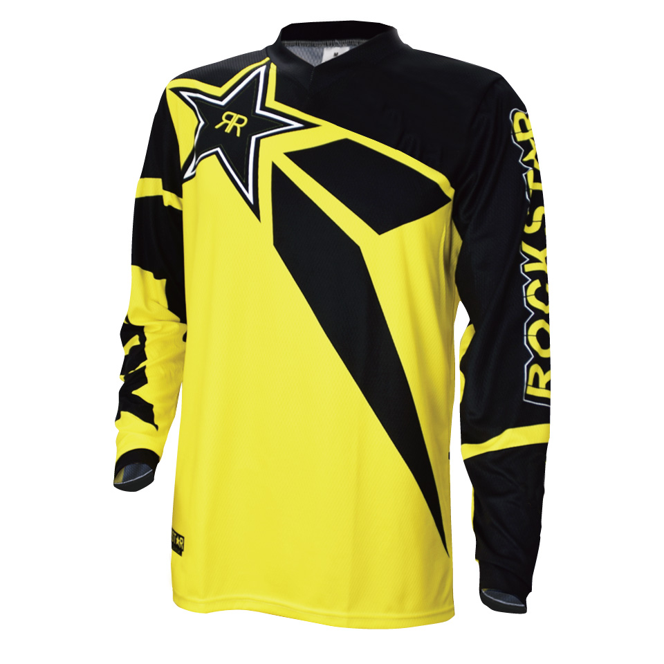 2018 Downhill Jersey Moto Jersey Bisiklet Off Road Dağ Bisikleti DH Bicicletta Jersey Risposta Rock Star DH BMX Motocross Jersey