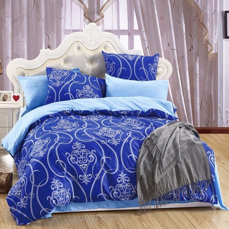 LILIYA 4/6Pieces Polyester / Cotton Bedding Set High Quality Pillowcase Sheet With Elastic Hot Seller Duvet Cover M