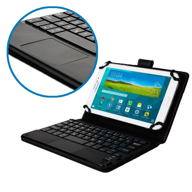 Evrensel 7 7.9 8 inç android windows ios tablet pc touchpad ile ayrılabilir bluetooth klavye + pu deri case kapak standı + kalem