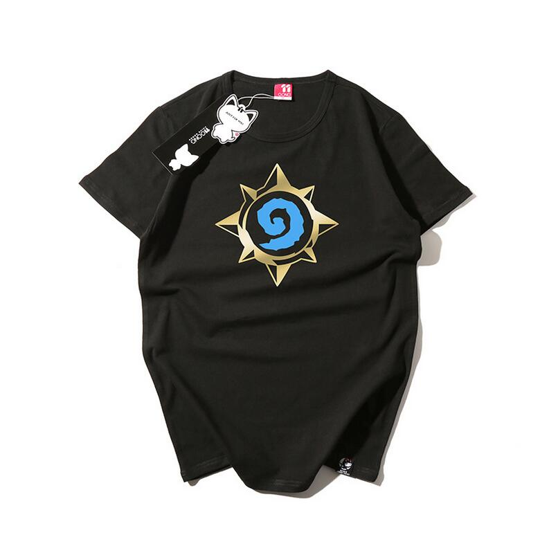 Yeni Anime Manga 2 Stil Hearthstone: Heroes of Warcraft Cosplay T-shirt Örgü Tee 00